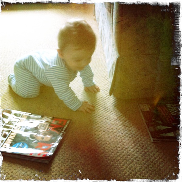 Today my baby crawled forwards….at last.