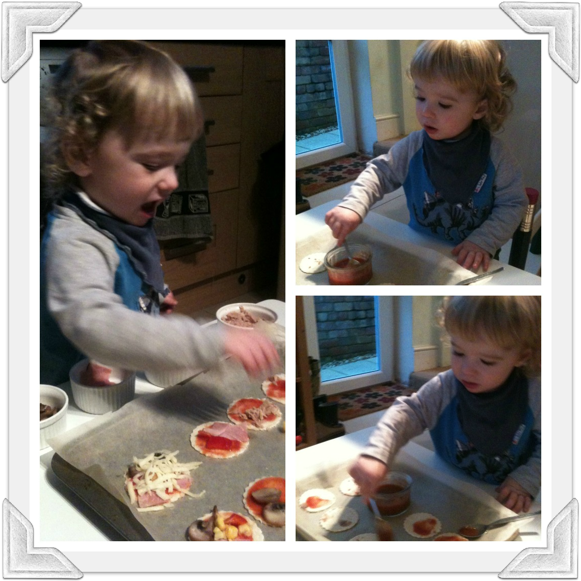 my little chef 2 Cooking With Your Toddler: Simple Mini Pizzas
