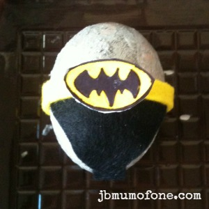 Batman badge Easter Craft:Sp EGG tacular Superheroes!