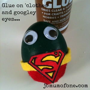 Glue together Easter Craft:Sp EGG tacular Superheroes!