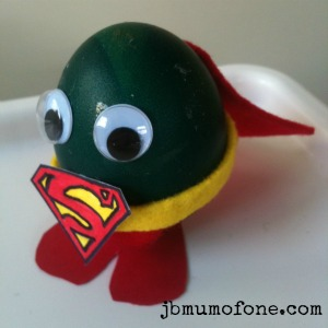 Super egg man Easter Craft:Sp EGG tacular Superheroes!