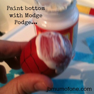 paint bottom modge podge