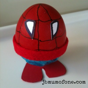 spider egg man Easter Craft:Sp EGG tacular Superheroes!
