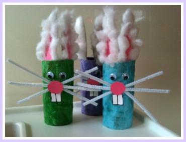 Toddler Easter Craft Bunnies