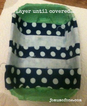 Layer until covered