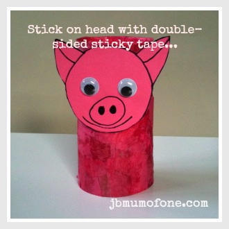 Toilet roll pink pig, toddler craft