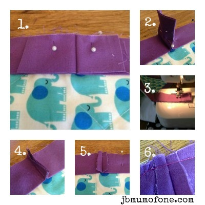 Joining up edges of quilt binding