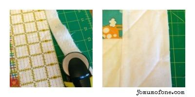 Trim edges of quilt