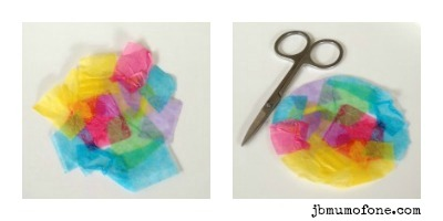 Simple summer sun catchers, toddler craft
