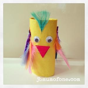 Toilet Roll Parrot