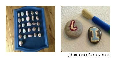 alphabet rocks/alphabet pebbles