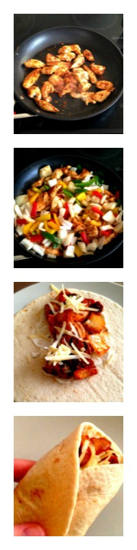 Making Discovery fajitas