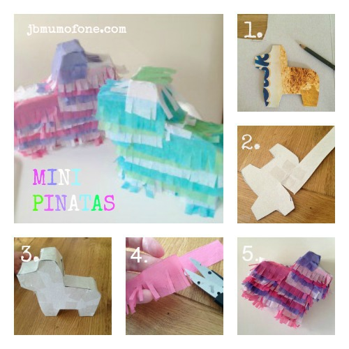 Making Mini Pinatas