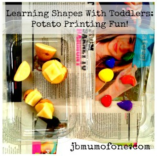 Learning Shapes With Toddlers: Potato Printing