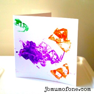 Potato Print Card