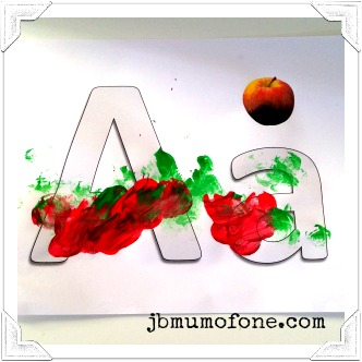 A is for apple: toddler painting