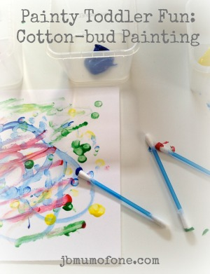 Pinterest Badge Painty Toddler Fun: Cotton bud painting