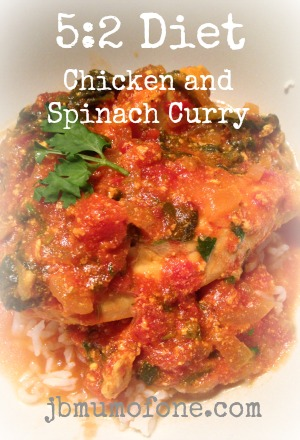 5:2 Diet Chicken and Spinach Curry