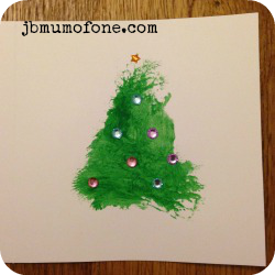 Toddler Craft: Super simple Xmas Cards