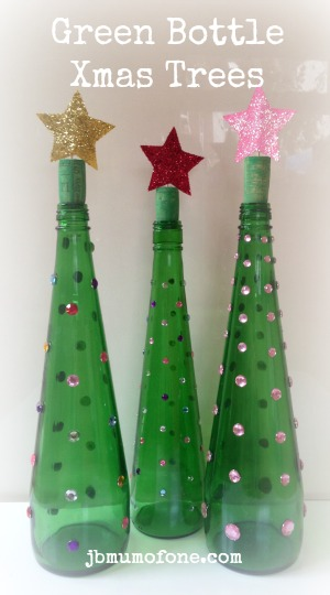 Green Bottle Christmas Tree Craft