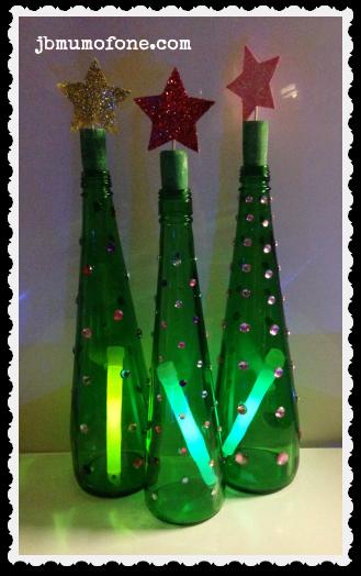 Green Bottle Xmas Trees