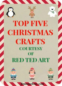 Top Five Christmas Crafts 215x300 Top Five Christmas Crafts From Red Ted Art