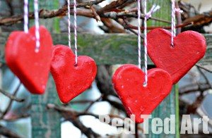 hearts 300x196 Top Five Christmas Crafts From Red Ted Art