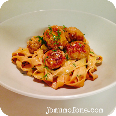 Sausage and Mustard Meatball Pasta With Help From Country Valley Foods