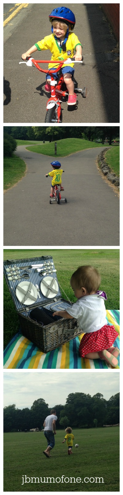 cycling to the park