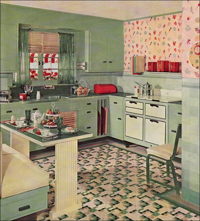 Sympathetic Decorating: 1930's Kitchen Cool