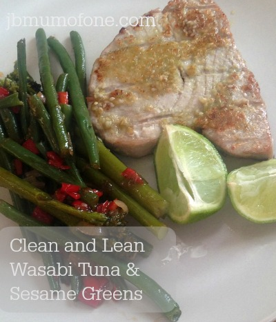 Clean and Lean Wasabi Tuna and Sesame Greens