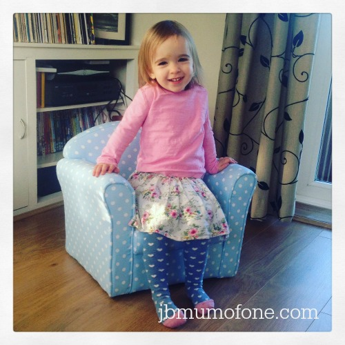 Little Miss on Sue Ryder Chair