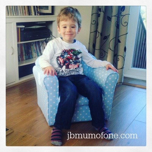 The boy on Sue Ryder Chair