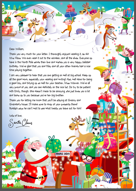 A Letter From Santa via the NSPCC