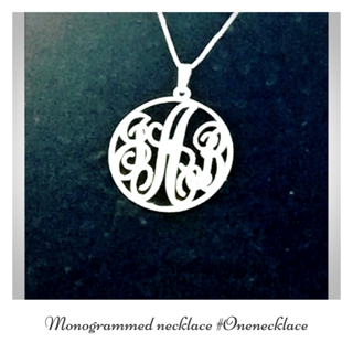 Onecklace monogrammed necklace